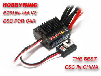 F17805 Hobbywing EZRUN 18A V2 2-3S Lipo Ātruma regulators Brushless ESC, BEC Output 6V/1.5 A 1/16 1/18 RC Auto